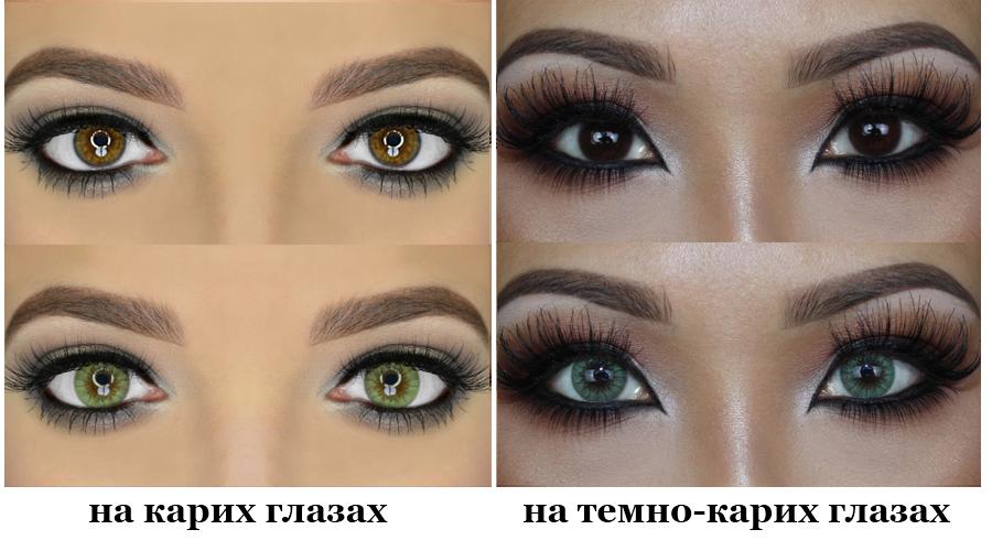 Как из карих глаз сделать голубые в 902