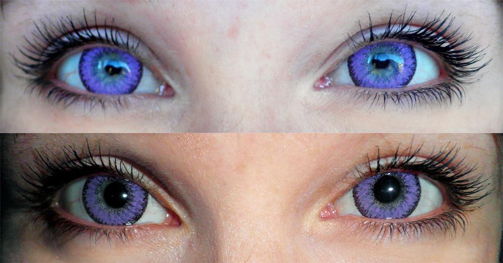 Линзы для глаз цветные фиолетовые