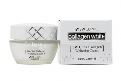 Осветляющий крем для лица с коллагеном [3W CLINIC] Collagen Whitening Cream
