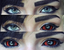 Red Black Sclera lens Sunpyre