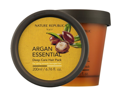 Маска для волос с маслом Арганы [NATURE REPUBLIC] Argan Essential Deep Care Hair Pack