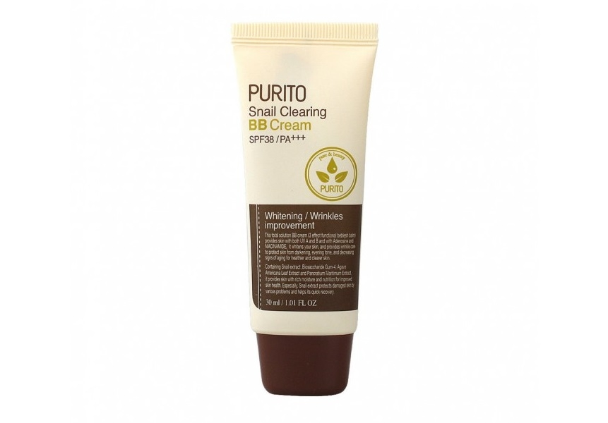 Улиточный BB крем [PURITO] Snail Clearing BB Cream