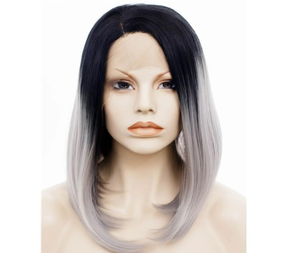 Lace Front Sleek Grey Ombre