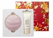 Набор кушн + праймер для лица [THESAEM] Eco Soul Essence Cushion All Cover Set