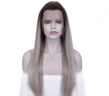 Trendy Yellow Grey Ombre Lace Front